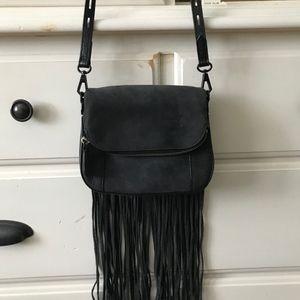 Rebecca Minkoff Mini Crosby Saddle Bag W/Fringe